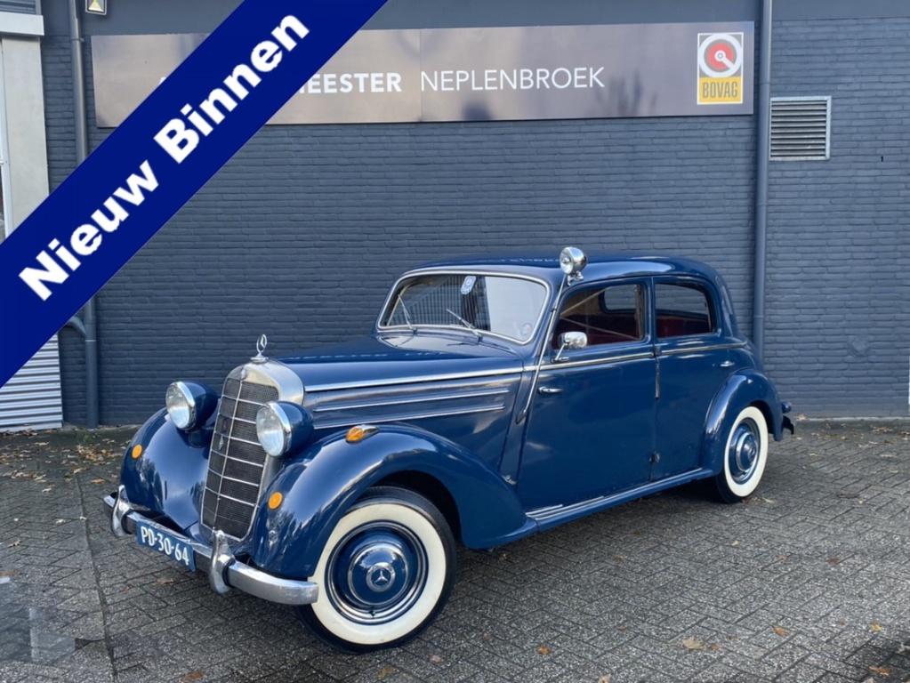 Mercedes-Benz-170s uit 1953 Ex NL rijkspolitie zelfs nog het originele linnen kenteken is aanwezig-thumb